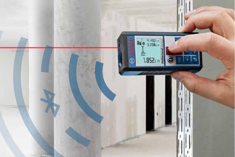 Test dalmierza  Bosch GLM 100 C